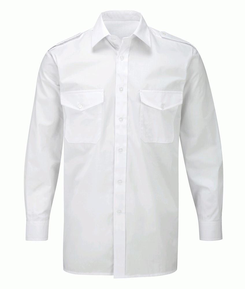 Orbit International CSH6 Men Pilot Shirt Long Sleeve White
