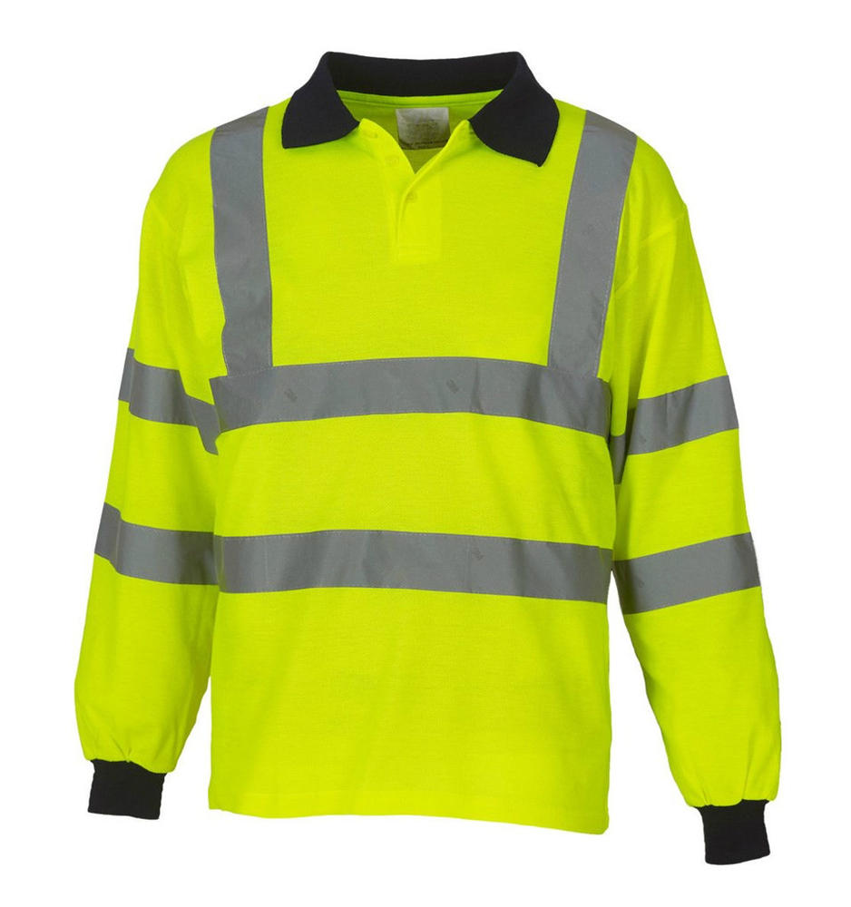 Arvello WHPFP-Y Men Hi Vis Polo Shirt Long Sleeve Yellow