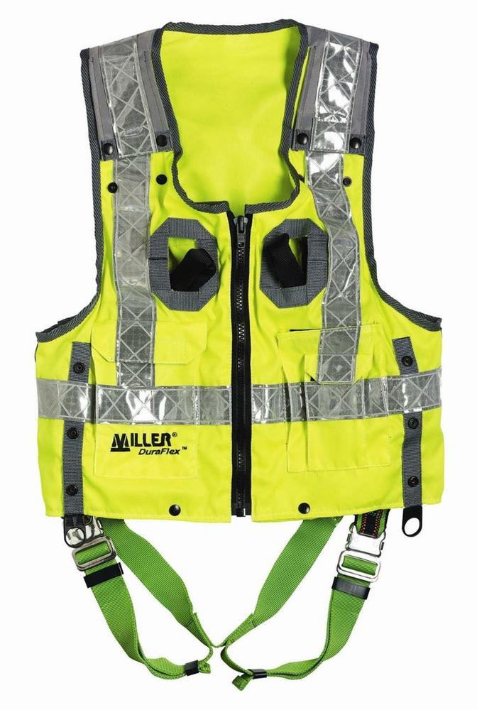 Honeywell Miller Hi-Vis Vest Harness Lightweight Durable Polyester Size: X Large