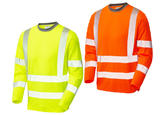 Leo Workwear T08 Capstone Coolviz Plus Long Sleeve Hi Vis T-Shirt