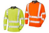 Leo Workwear T13 Watermouth Coolmax Long-sleeved Hi Vis T-Shirt