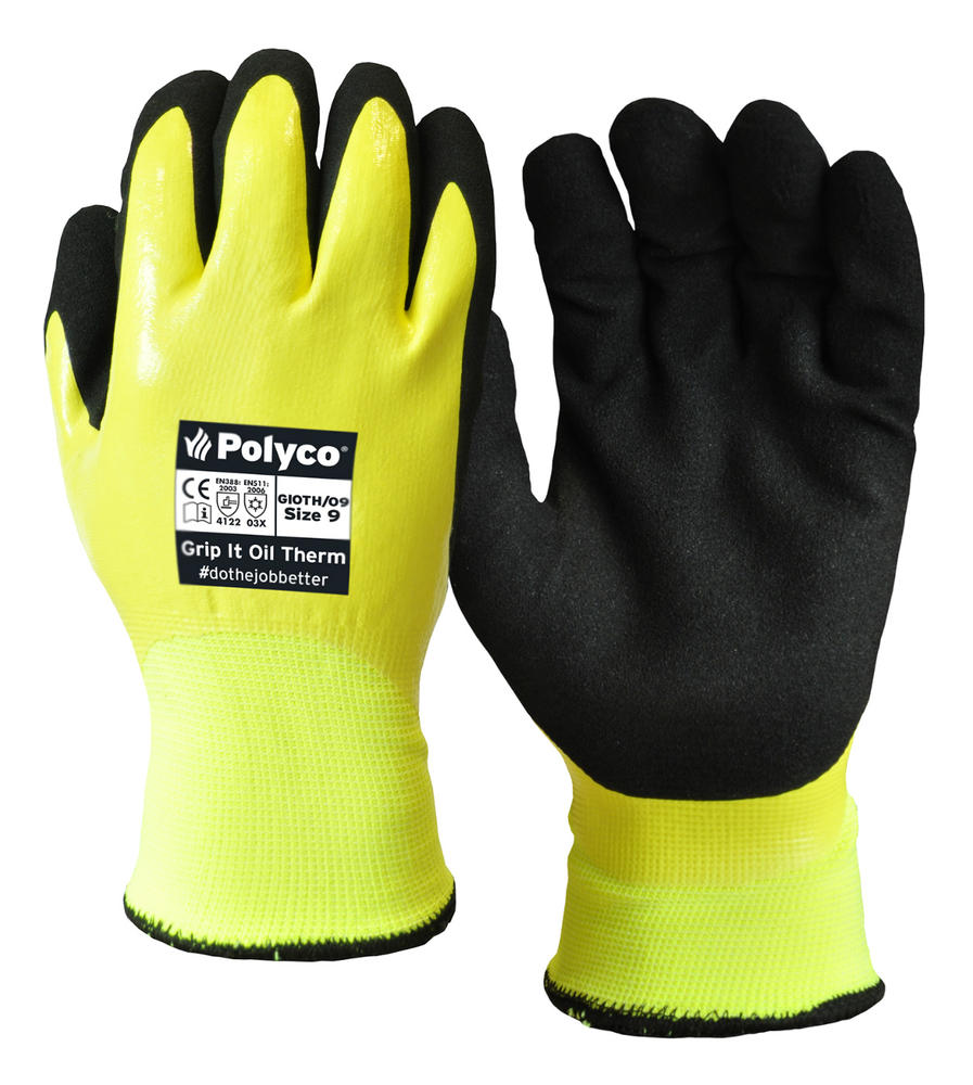 Polyco Grip It Oil Therm GIOTH Fleecy Lined Thermal Work Glove