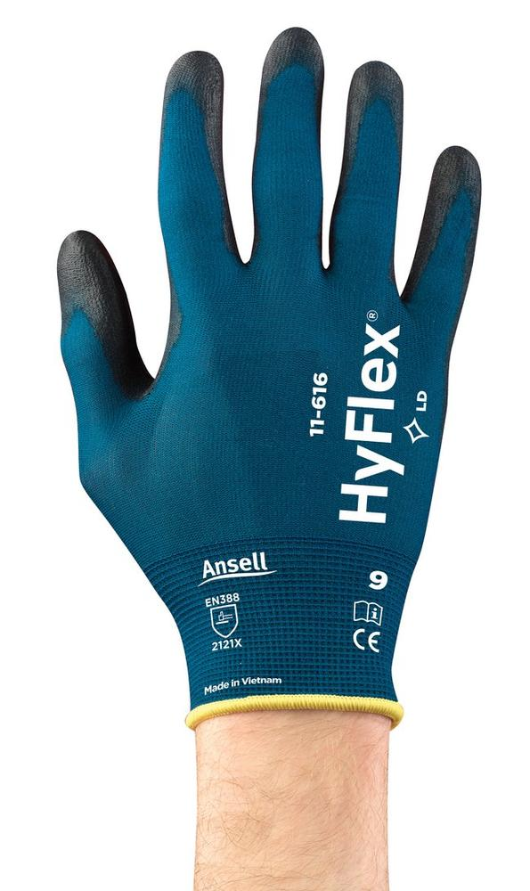 Ansell 11-616 HyFlex PU Palm Coated General Handling Work Gloves