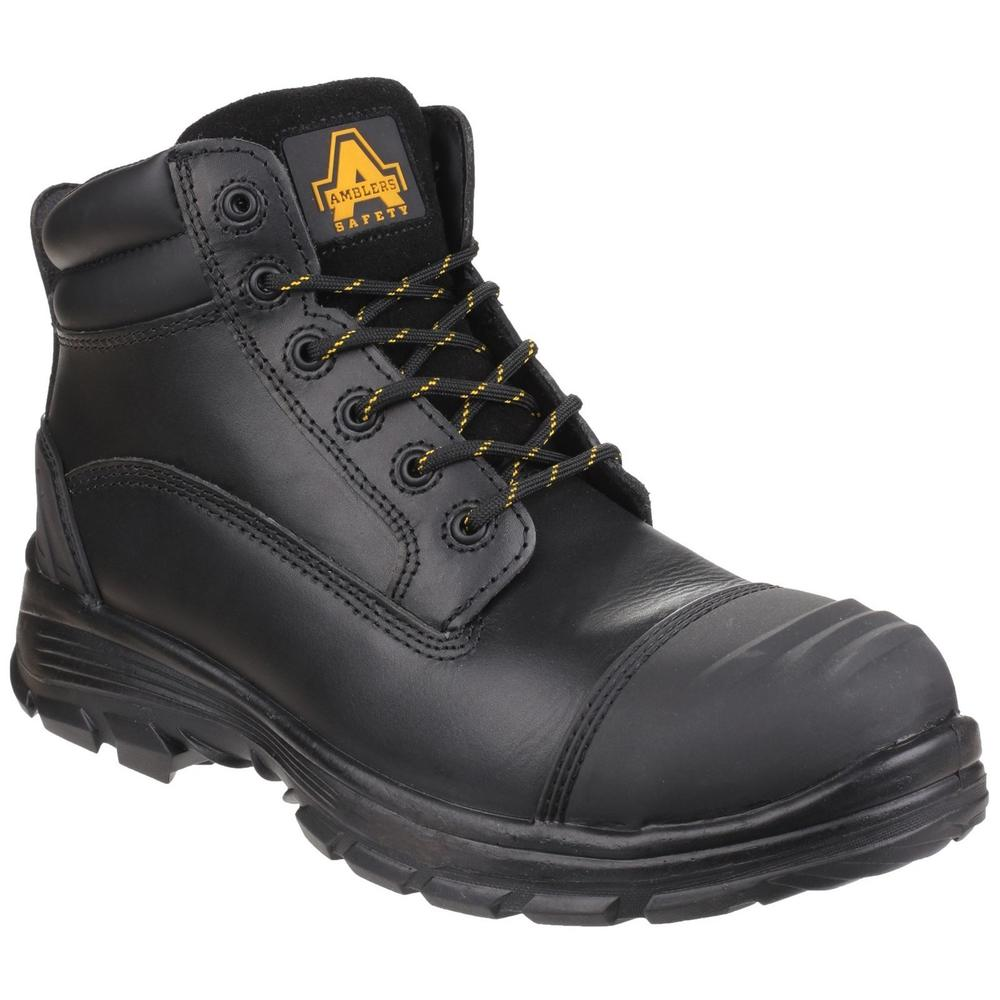Amblers AS201 Quantok Steel Toe Cap & Midsole S3 Men Safety Chukka Boots Black