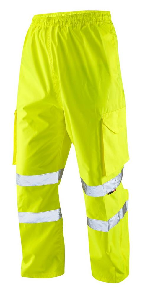 Leo Workwear Appledore L01-Y Hi Vis Cargo Overtrouser Multi-Pocket - Yellow