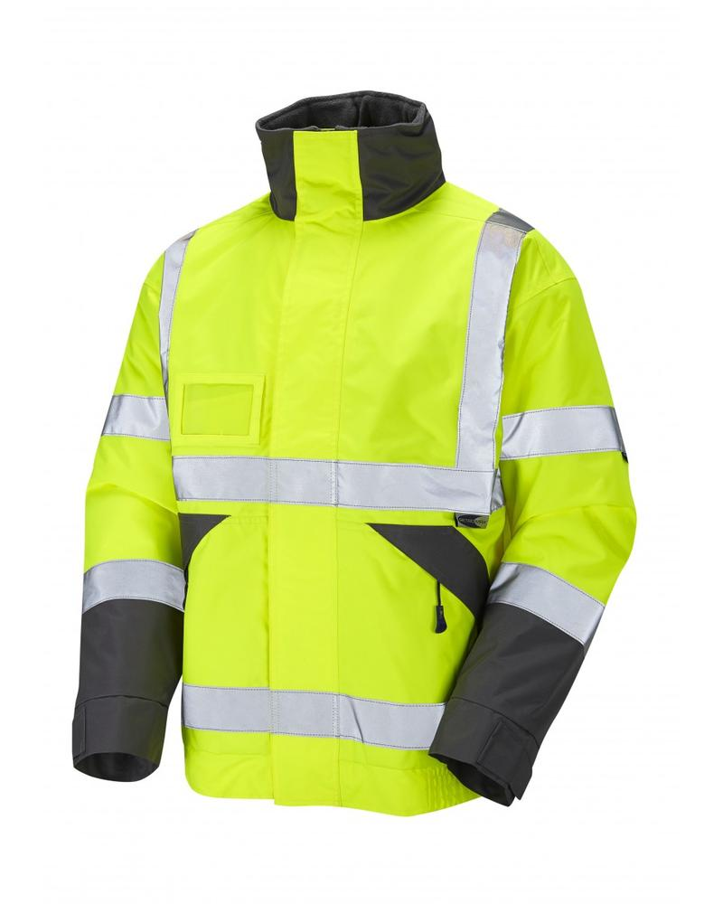 Leo Workwear Bickington J02 Fleece-lined Hi Vis Superior Bomber Jacket