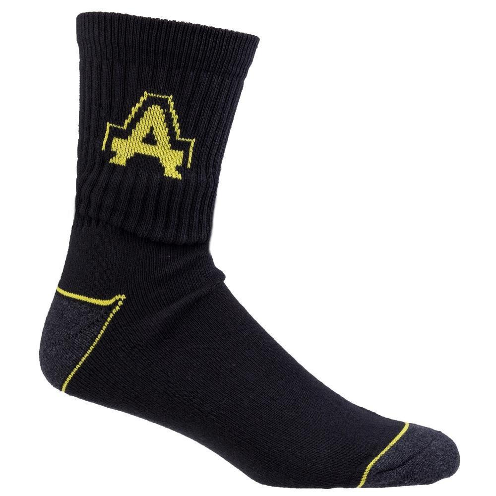 Amblers Unisex Work Socks Polycotton Black UK6 to UK11