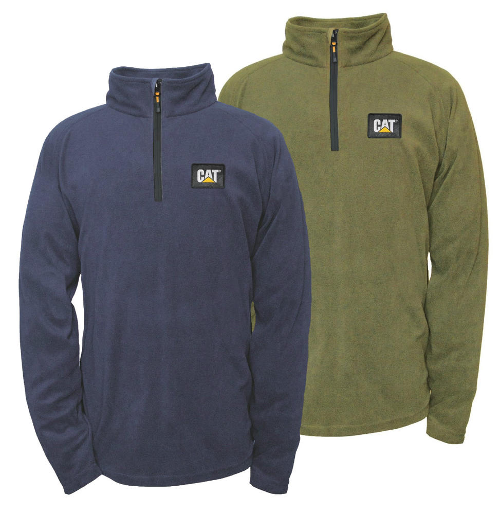 CAT lifestyle 1310064 AG Polyester Fleece 1/4 Zip Pullover
