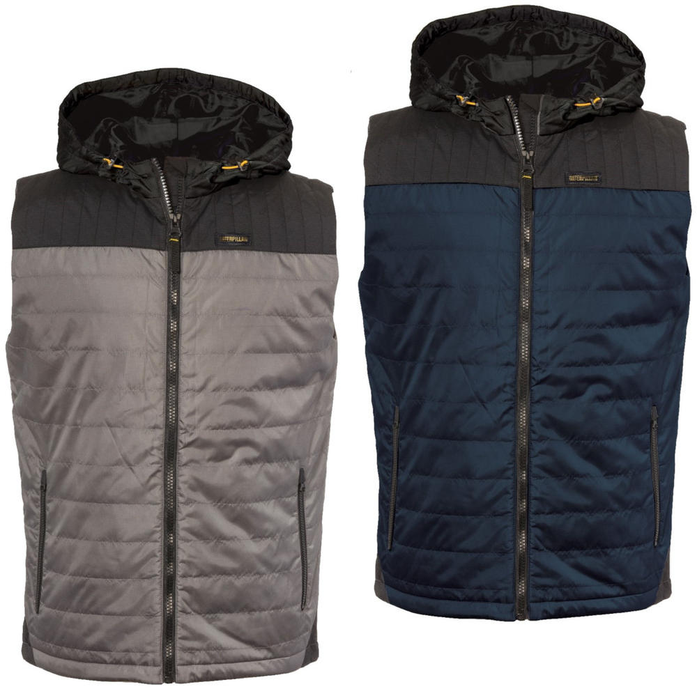 CAT Lifestyle Storm Water-Resistant Finish Quilted Hooded Bodywarmer