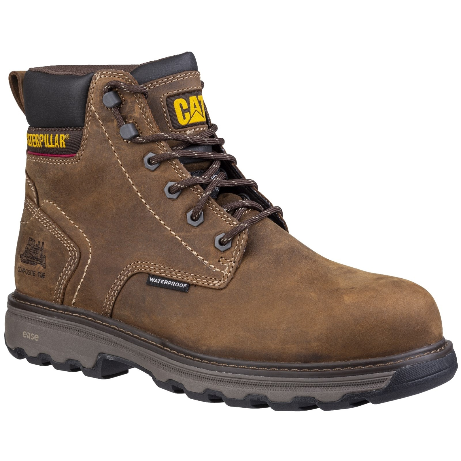 dffb0b68c67 CAT Precision Water-resistant Metal Free Toe Cap & Midsole S1-P Safety Boots