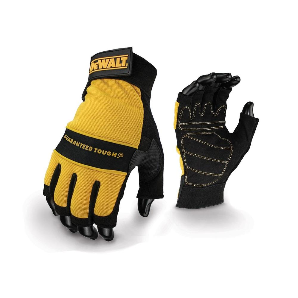 DeWALT DPG23L Fingerless Performance Double Stitched Work Gloves