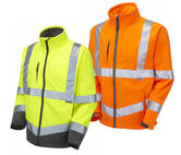 Leo Workwear Buckland SJ01-Y Waterproof Softshell Jacket - Yellow