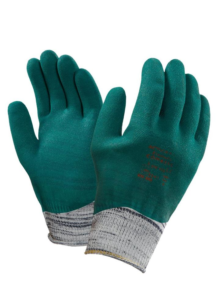 Ansell Actigrip VHP Elastofix Level-5 Cut Resistant Nitrile Coated Work Gloves