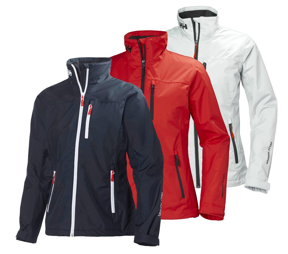 Helly Hansen Womens Crew Midlayer Crew Jacket Navy Breathable Rain Jacket