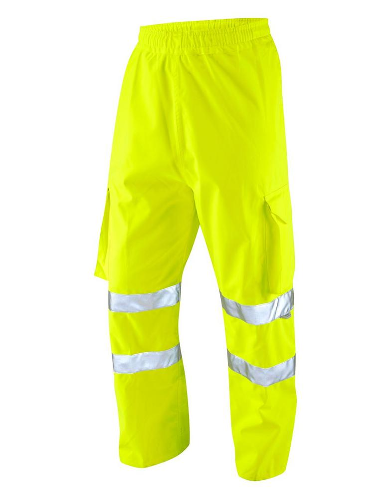 Leo Workwear Instow L02-Y Hi Vis Executive Cargo Overtrouser - Yellow