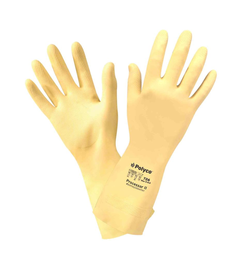 Polyco Processor II Chemical Resistant Gauntlets Natural Rubber