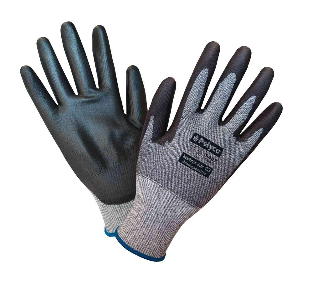 Polyco Matrix Air C3 Men Work Gloves Cut 3 Resistant PU Coating