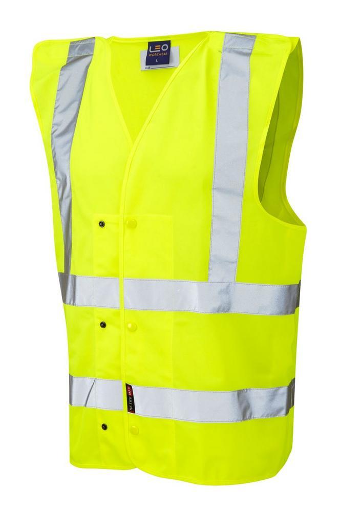 Leo Workwear Rackenford W17-Y Quick Release Underground Waistcoat, Size XLarge - Yellow