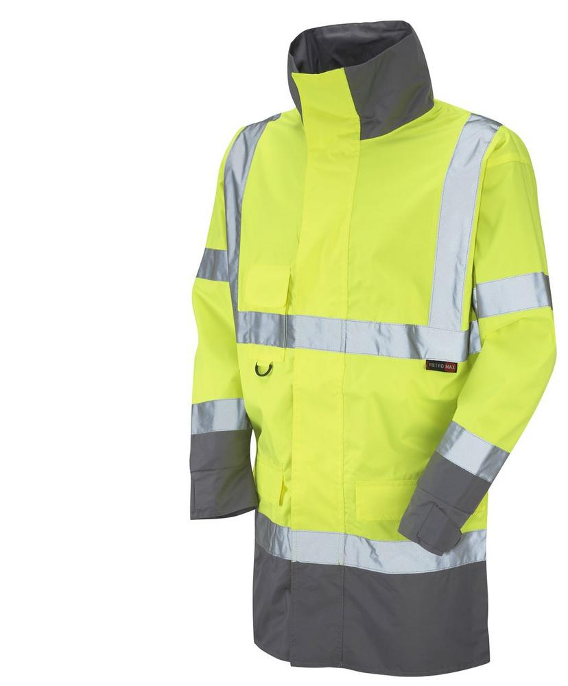 Leo Workwear Torridge A06-Y Hi Vis Breathable Lightweight Anorak  Rain Jacket - Yellow