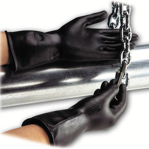 Polyco Jet 526 Protective Black Rubber Glove 10 Pairs