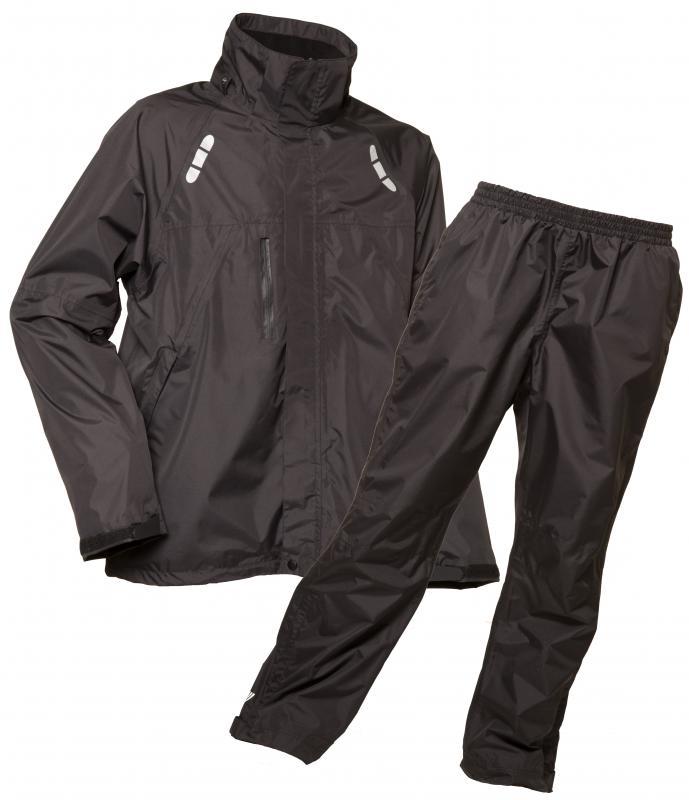 Lyngsoe 2-Piece Set Waterproof Breathable Rainsuit Black Fox 3041