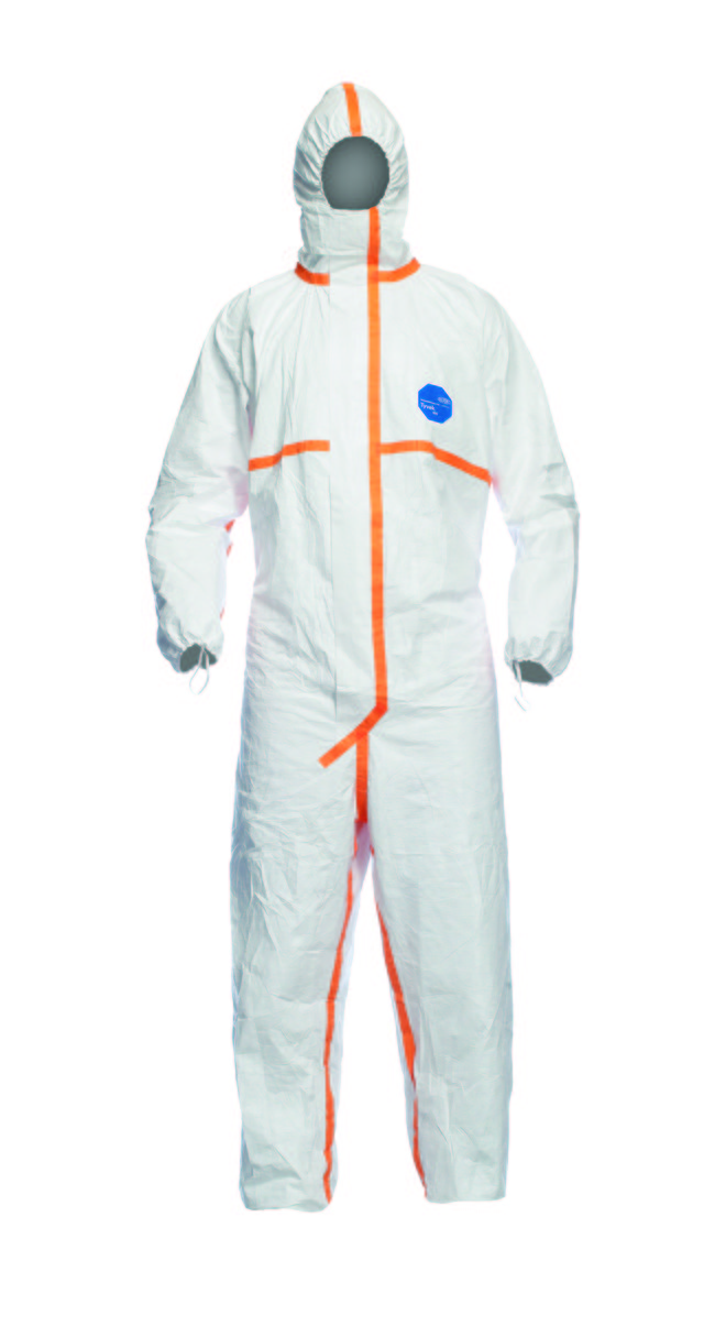 DuPont? Tyvek® 800 J Disposable Hooded Coverall Type 3/4/5/6 White Size M