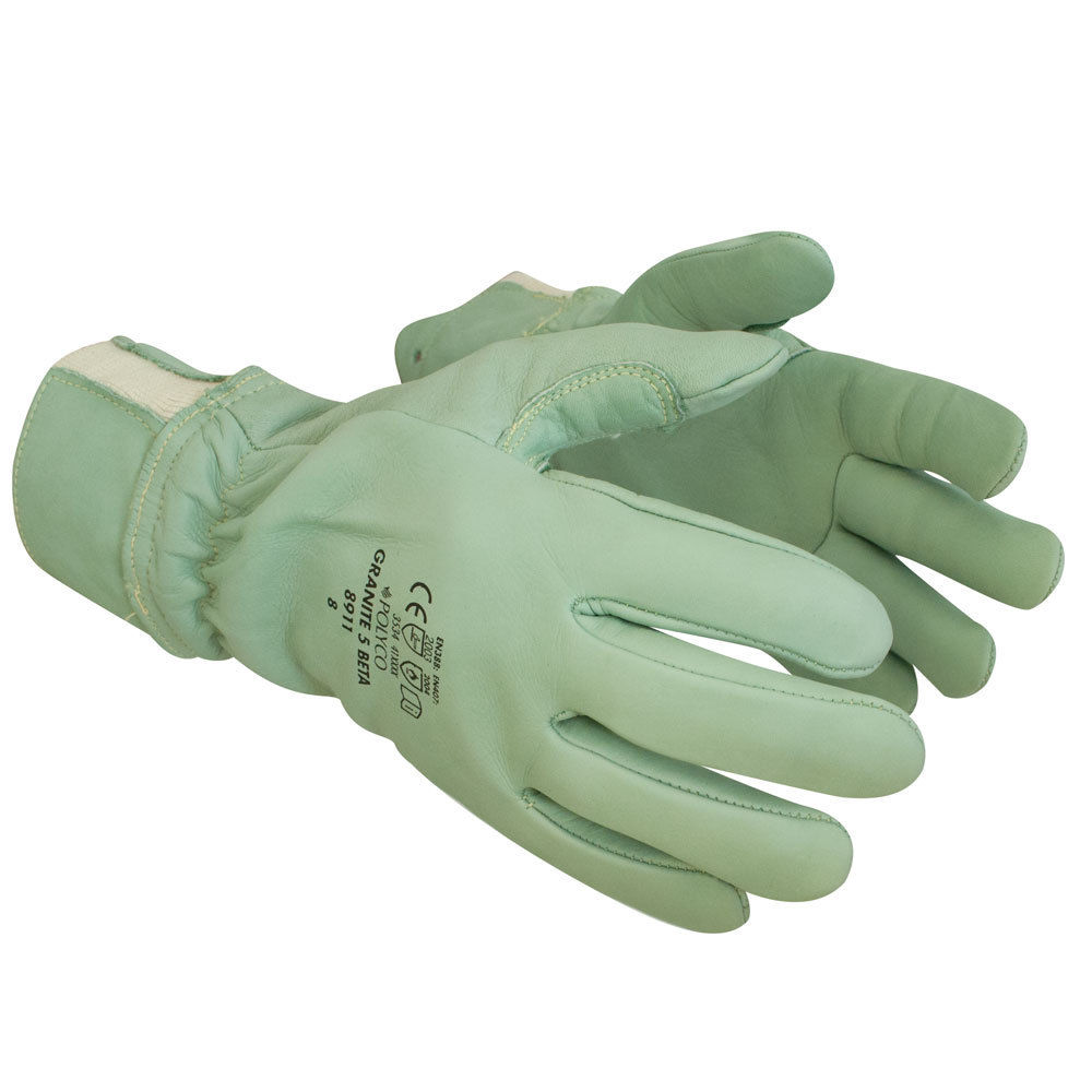 Polyco Granite 5 Beta Cut Resistant Leather Kevlar® Reinforced Work Gloves