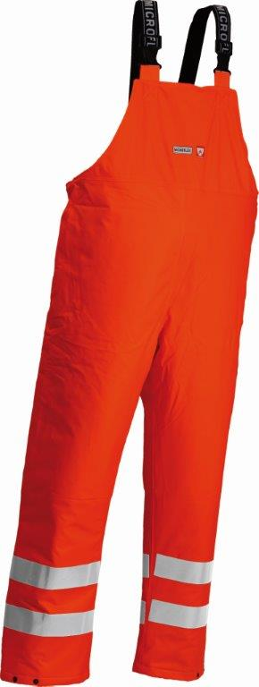 Lyngsoe Flame Retardant & Anti-Static Hi Vis Bib & Brace Lined Trousers FR-LR546