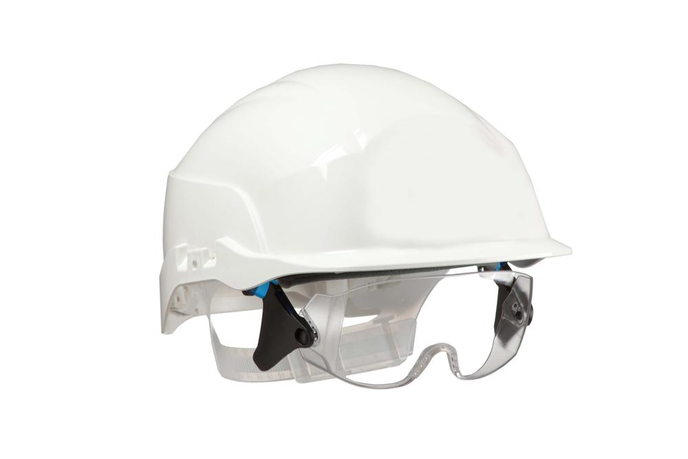 Centurion S20WRF Spectrum Vented Safety Helmet with Integrated Goggles Hard Hat - White