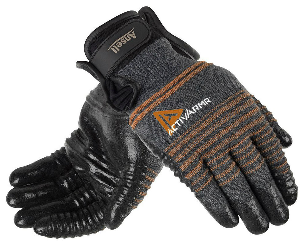 Ansell 97-009 ActivArmr Cut-4 Resistant Nitrile Coated Work Gloves, Size - 8