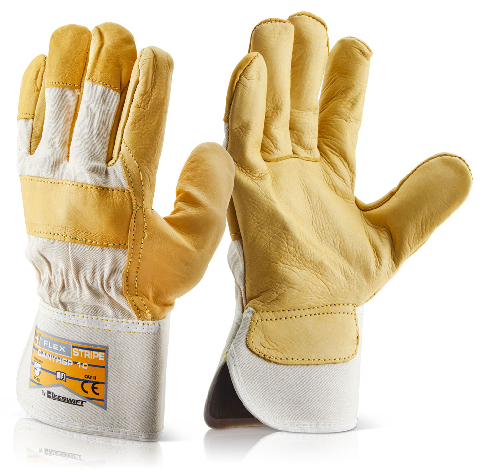 Beeswift CAYHSP Yellow Hide Lined Canadian Rigger Gloves, Size - 10