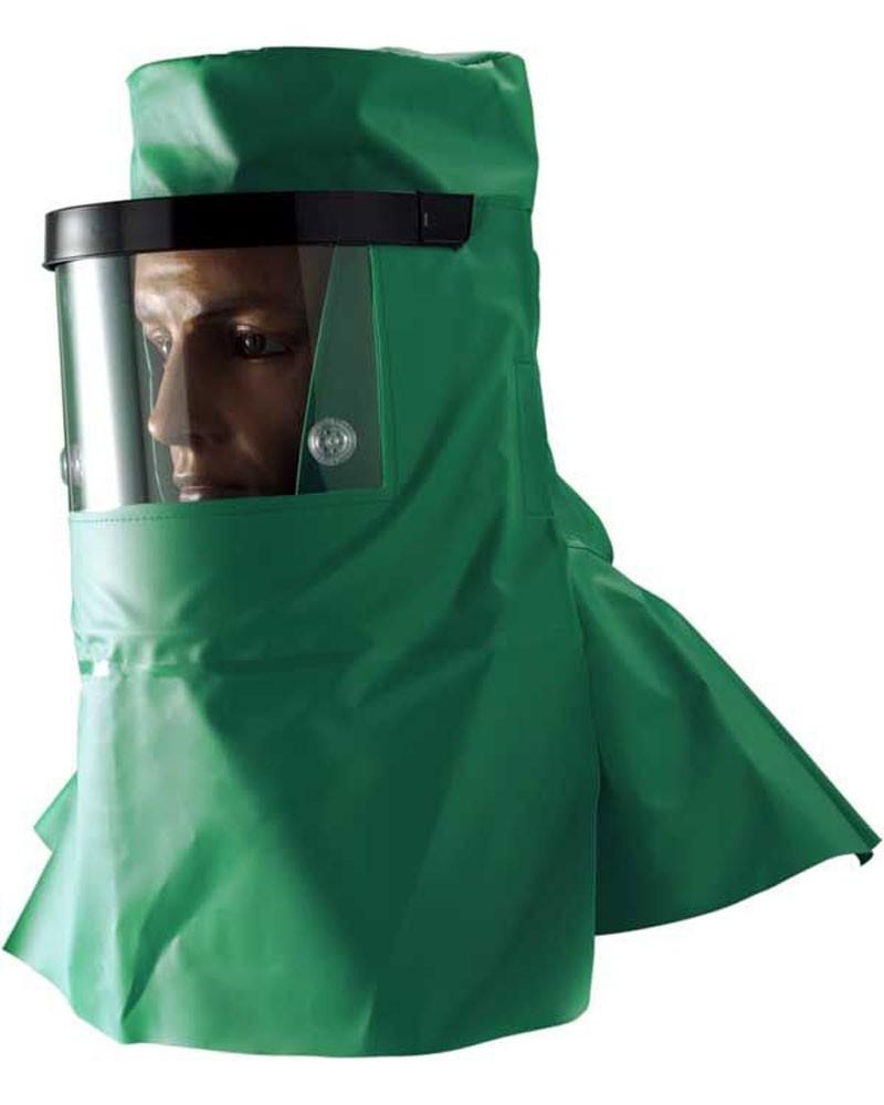 Alpha Solway CMH8 Chemmaster Hood Anti-Fog Visor Neck Cape Protective Headgear