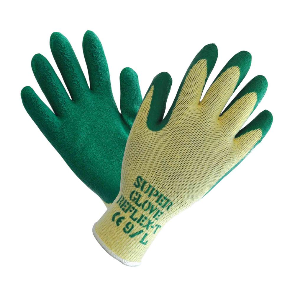 Polyco 861 Reflex T Men Work Gloves Latex Coating Green Size 10