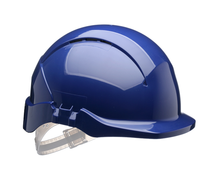 Centurion Concept S08BF Vented Reduced Peak Blue Safety Helmet