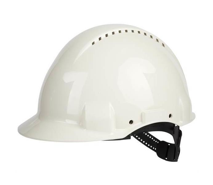 3M Peltor G3000 Vented Short Peak Head Protection Safety Helmet - White