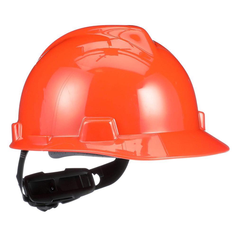 MSA V-Gard Safety Helmet Fas-Track III Suspension Orange