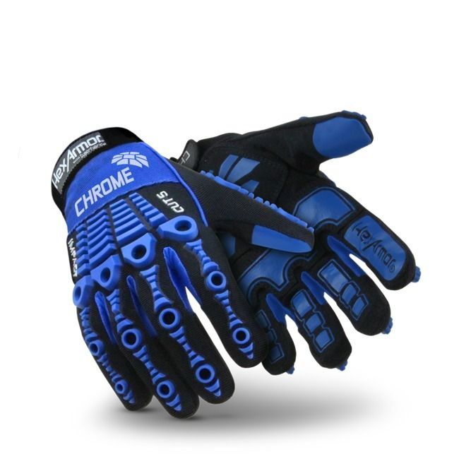 Polyco HexArmor 4024 Impacts & Level-5 Cut Resistant Hand Protection Safety Gloves