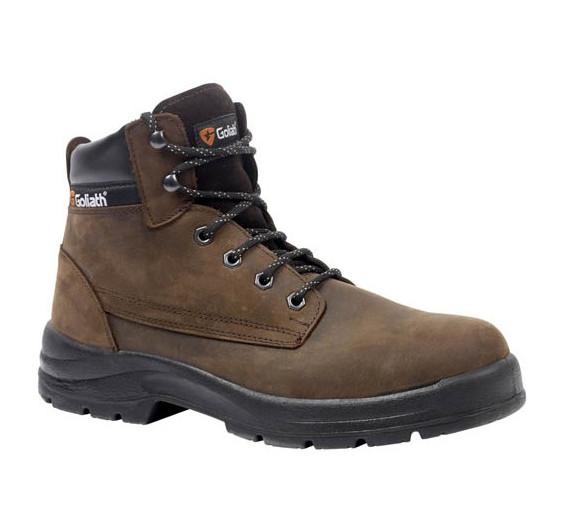 Goliath Jensen Steel Toe Cap Work Brown Mens S3 SRA Safety Chukka Boots