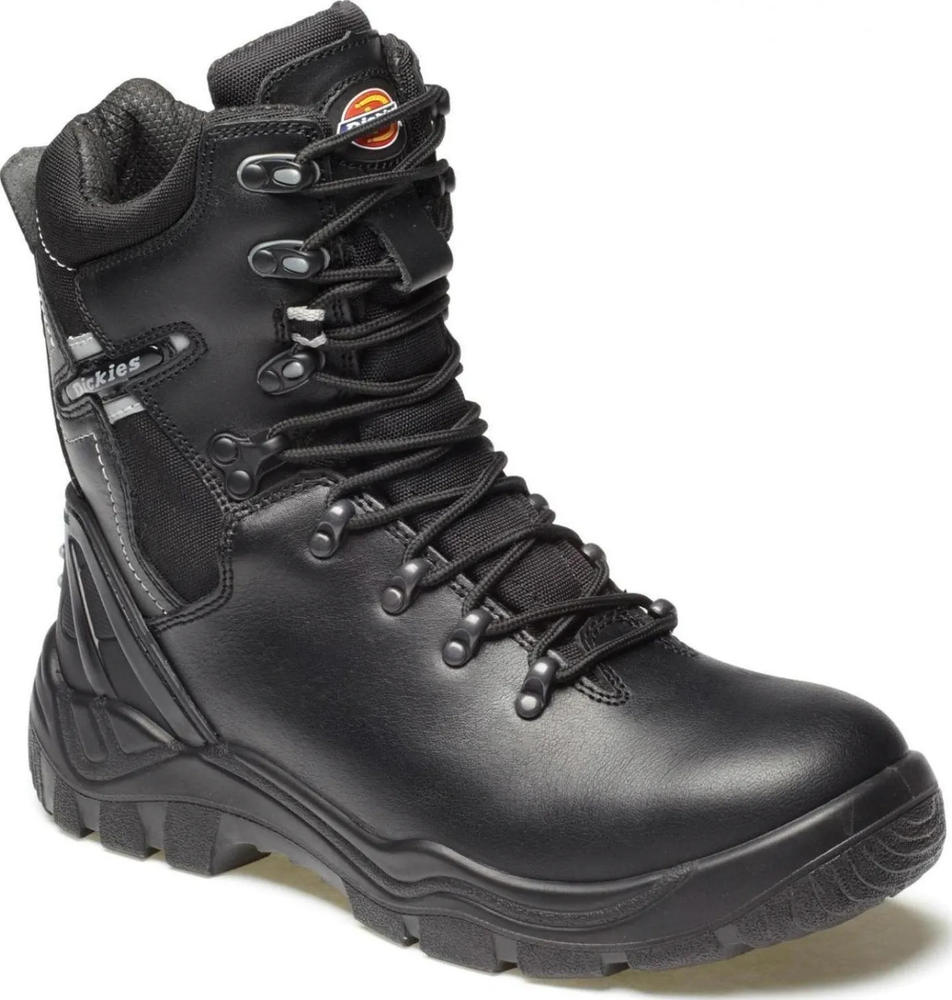 Dickies Quebec Steel Toe Cap Fur Lined Side Zip S1-P Safety Boots