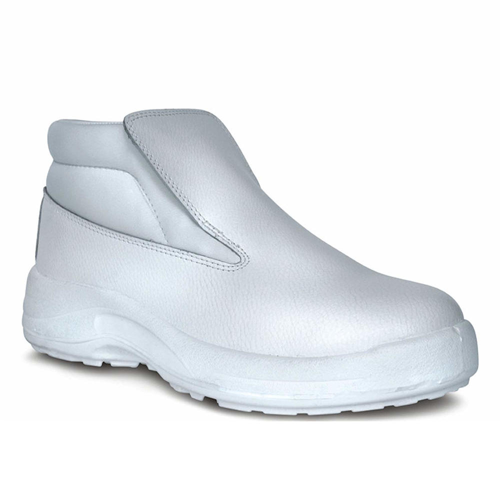Goliath ATOM60 Steel Toe Cap S2 White Microfibre Slip-On Safety Boots