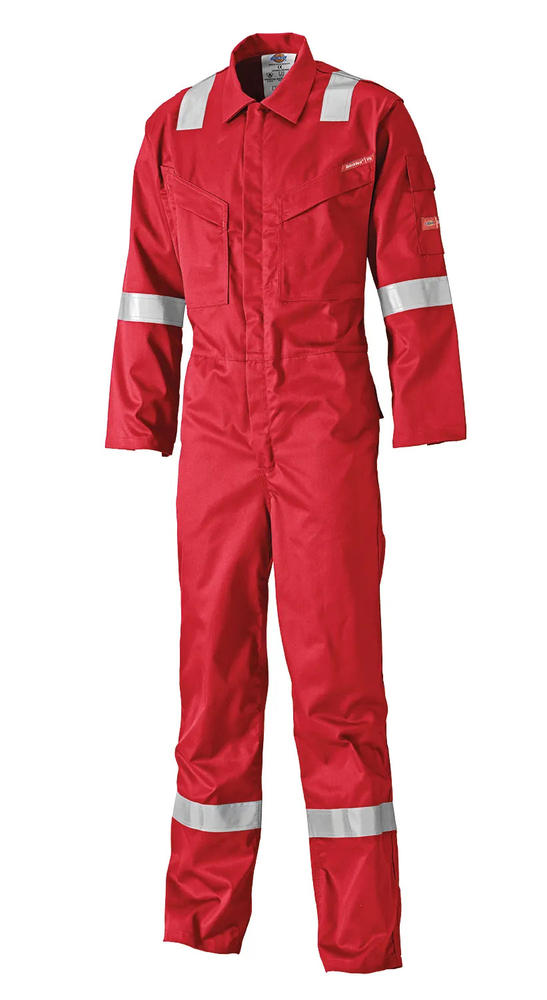 Dickies FR5404 Men FR Coverall Pyrovatex Hi Vis Antistatic Red Size 50R