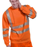 Beeswift BSSENOR Orange 100% Polyester High Visibility Fleece Sweatshirt