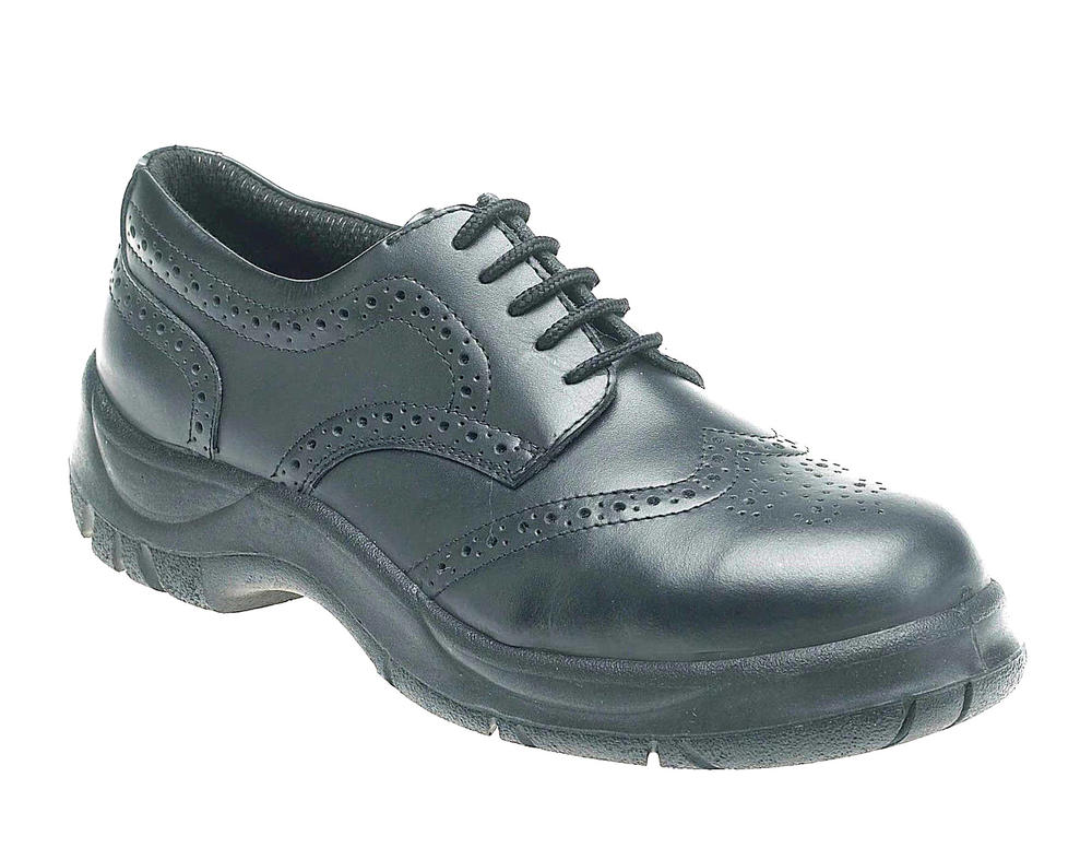 Himalayan 411 Black Leather S1 SRC Men Safety Brogue Shoes