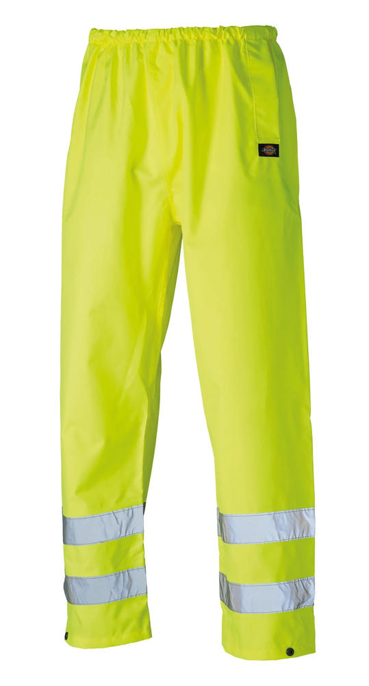 Dickies SA12005 Waterproof Hi Vis Yellow Rain Safety Over Trousers