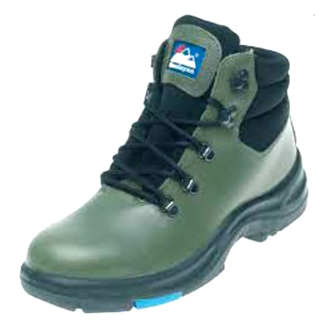 Himalayan 5102 Olive Leather S3 SRC Safety Boots, Size - UK 6