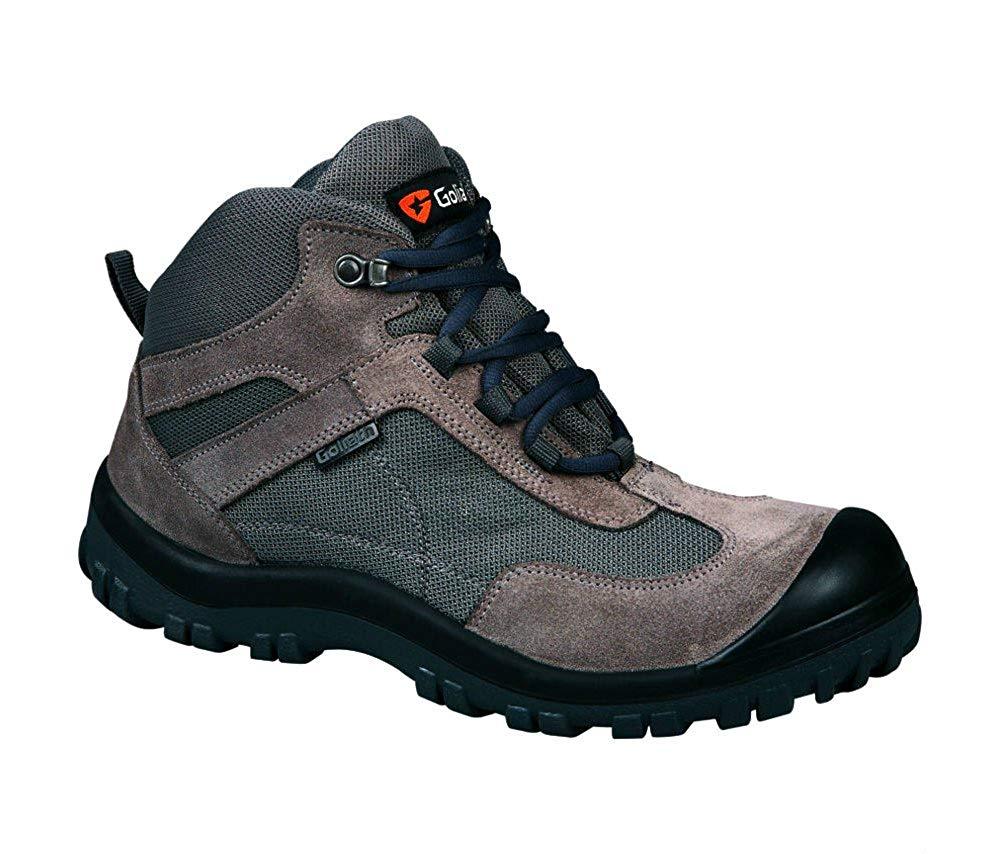 Goliath EL255S Grey Lightweight S1-P SRA Safety Hiker Boots, Size - UK 8