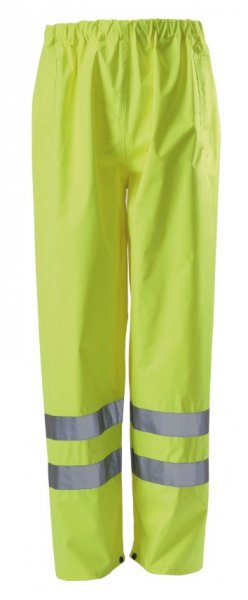 Beeswift TENSY Hi Vis Traffic Trousers Waterproof Over Pants - Yellow