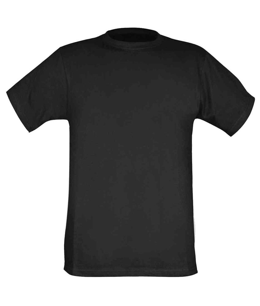 Orbit International TS1 Men 100% Cotton Black T-Shirt, Size - M