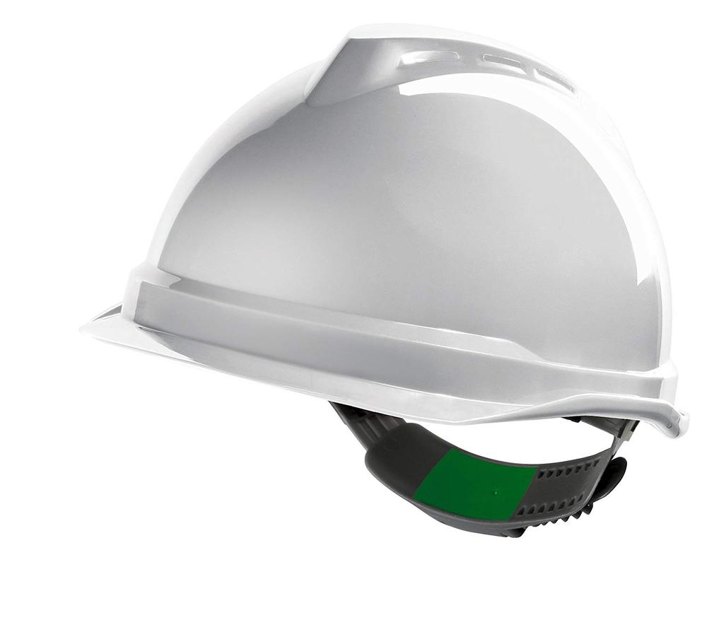 MSA V-Gard 520 Safety Helmet Push-Key Sliding White