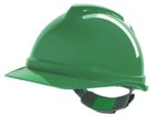MSA V Gard Safety Helmet Hard Hat Push-Key Fit Adjuster Green